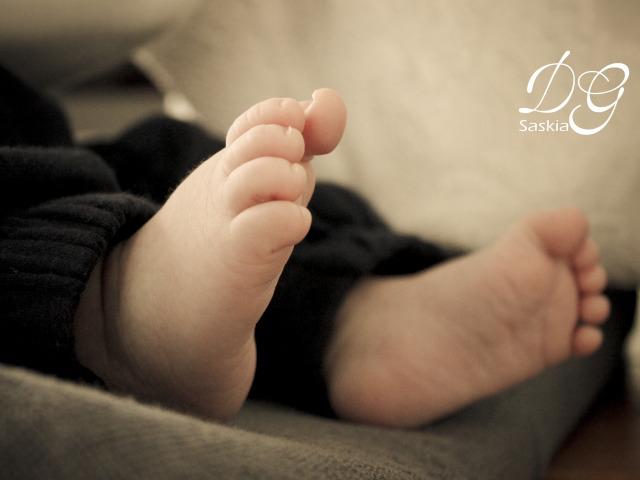 Newborn Leon en zijn mama